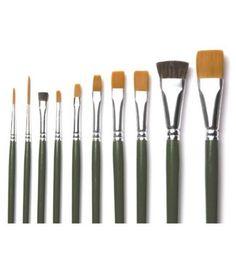Plaid One-Stroke Value Pack-10 Piece Brush Set, , hi-res