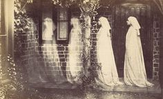 Anonymous, The ghost of Bernadette Soubirou, Albumen silver print Ghost Photography, Spirit Photography, Vintage Photography, White Photography, Horror Photography, Inspiring Photography, Monochrome Photography, Photography Poses, Cthulhu