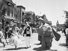 Opening day at Disneyland, July Disneyland History, Disneyland Photos, Vintage Disneyland, Disneyland Trip, Disneyland Resort, Disney Vacations, Disneyland California, Disney Parks, Walt Disney