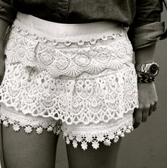 bring on the lace shorts!