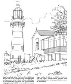 Free Lighthouse Coloring Pages Adult