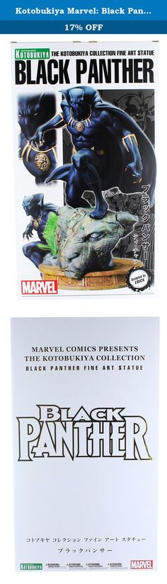 Kotobukiya Marvel: Black Panther Fine Art Statue. From Kotobukiya. A Kotobukiya Japanese import! The latest elite Fine Art Statue in the Marvel Comics Presents Kotobukiya Collection adds a classic Avenger and royal hero with the mighty Black Panther! The most recent in a long line of chieftains of the Panther Clan, T'Challa is the leader of the African nation of Wakanda, and his connection to the Panther God has given him enhanced abilities which he uses to defend his nation and the world...