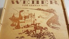 Weber Fine German Wine, Wooden Box by TheRecycledGreenRose on Etsy
