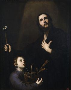 Jose de Ribera -San José y el Niño Jesús (Saint Joseph and the Child Jesus); Museo del Prado, Madrid, Spain; 1632