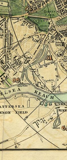 Pigot & Co.'s Miniature Plan Of London And Vicinity c1820