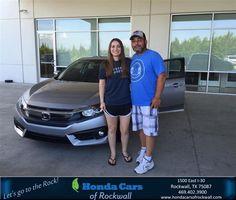 https://flic.kr/p/Hn3H4P | Congratulations Hannah on your #Honda #Civic Sedan from Kiara Campos at Honda Cars of Rockwall! | deliverymaxx.com/DealerReviews.aspx?DealerCode=VSDF