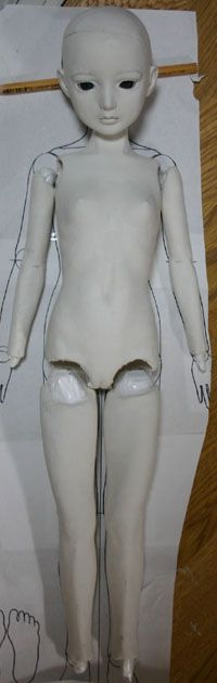 How to make ball-jointed doll | air dry clay this has reference info for positioning body parts