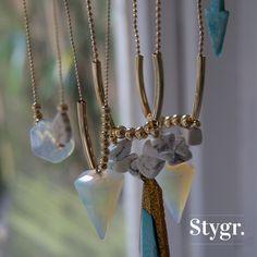 Summer Collection '15 Necklaces - Gold. Stygr. - Handmade Designs.   www.stygr.com