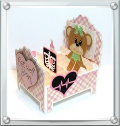 Get Well Beary Soon Card in a Box / Handcrafted by Pryme Dezign / Sandy Pry