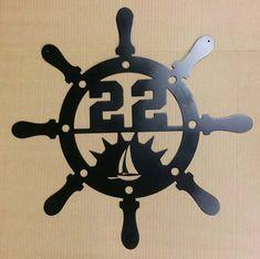 Navires de roue adresse personnalisée signe maison par UpNorthSign