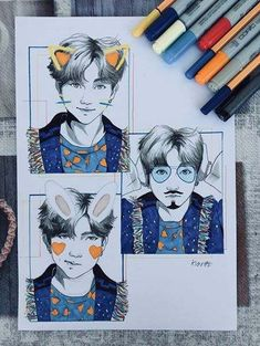 Trendy Ideas for drawing step by step bts Kpop Fanart, Bts Pictures, Photos, Kiosk Design, Kpop Drawings, Fan Art, Bts Chibi, Anime Kawaii, Bts Fans