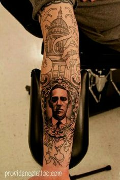 H.P. Lovecraft and Cthulhu tattoo
