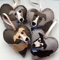 Adorable Greyhound love heart gift / Whippet / Lurcher / Handmade UK