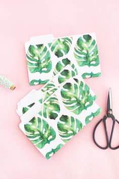 DIY Mini Tropical Folders