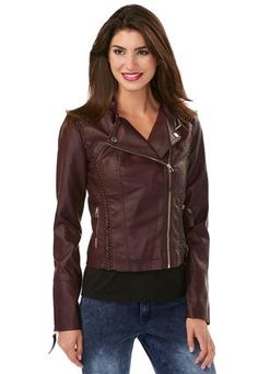 ad37bb7612d9d Cato Fashions Braided Trim Leather Look Jacket  CatoFashions Braid Styles
