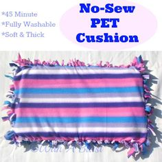 With A Blast: No-Sew PET Cushion   {or seat cushions!}   #crafts  #nosew #pets