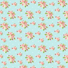 Shabby Chic papers - small roses blue | Flickr - Photo Sharing!