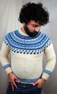 great sweater...the buyer may have to re-block that beauty back into shape.