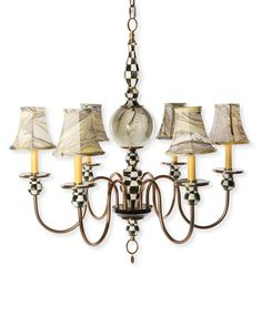 MACKENZIE-CHILDS Courtly Palazzo 6-Light Chandelier $1350 - FREE SHIPPING OR PICK UP
