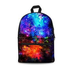 Anyshok Multicolor Unisex Universe Galaxy Star Canvas Backpack/ Bookbags / Daypack for Outdoor (Colorful Series) * Click on the image for additional details. (This is an affiliate link)