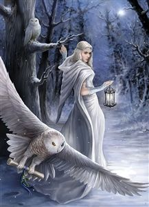Yule / Winter Solstice : Anne Stokes : Artists : Home : Pagan/spiritual and fairy/fantasy greeting cards, prints and gifts at Moondragon Anne Stokes, Fantasy Artwork, Elfen Fantasy, Fantasy Witch, Fantasy Fairies, Fantasy Forest, Witch Art, Fantasy Kunst, Fairy Art