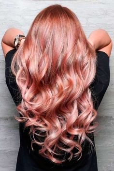 Rose Gold Hair Color Is the Hottest Trend This Year ★ See more: http://lovehairstyles.com/rose-gold-hair-color-trend/