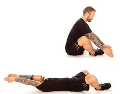 Helpful stretches for runners: butterfly sit-ups.