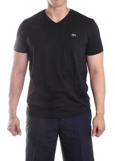 dfea41b635074 Lacoste S S Pima Jersey V-Neck Tee TH6604-51 031 Black  Nike  th660451
