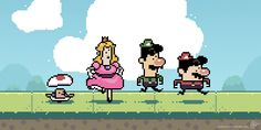 GIF of the Day: The Mario Crew Comes a'Running