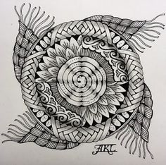 zentangle free patterns | how to design mandalas and fill them with zentangle patterns ...
