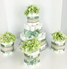 Image result for shabby chic diaper cakes