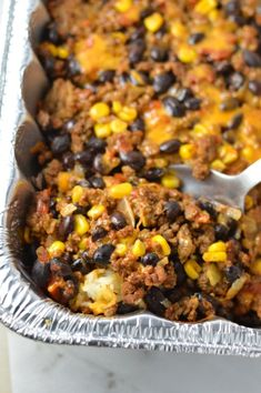 Easy Taco Rice Casserole Freezer Meal made with beans and ground beef. Great recipe to make ahead for the week as your weekly dinner meal prep. meals with ground beef Freezer Friendly Meals, Make Ahead Freezer Meals, Freezer Cooking, Easy Meals, Hamburger Freezer Meals, Freezer Recipes, Cooking Tips, Meals With Beef, Meals To Make With Ground Beef
