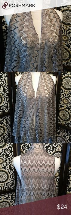 "Romero Romero sheer vest Love love love this light-weight black, taupe and gray sleeveless handkerchief hemmed Size Large vest! True to size 😉 Length 23"" to 42"" 100% Polyester Romero Romero Jackets & Coats Vests"