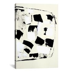 Flag of by Heather Chontos Painting Print on Wrapped Canvas in Black and White