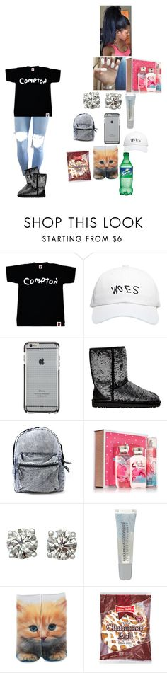 """""""~ school outfit ~"""" by foodislyfe ❤ liked on Polyvore featuring October's Very Own, Case-Mate, UGG Australia, Maybelline and Forever 21"""