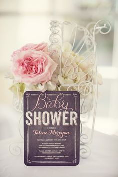 Shabby Chic Little Birdie Themed Baby Shower inspired by Tiny Prints baby shower invitation
