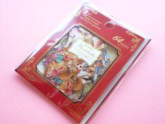Photo1: Kawaii Cute Sticker Flakes Sack Antique Booklatte Q-LiA *Animal  (61441)