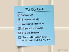 A teacher's to-do list. :)