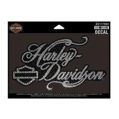 Harley-Davidson Harley-Davidson Glitter & Rhinestones Graceful H-D Script Decal DC117804
