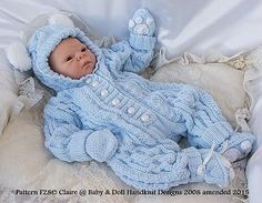 """Babydoll #handknit #designs knitting pattern f28 onsie set 17-24"""" #doll/0-3m,  View more on the LINK: http://www.zeppy.io/product/gb/2/172019035123/"""