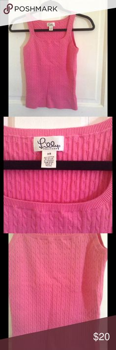 Lilly Pulitzer tank top Barely worn pink, cable design, Lilly Pulitzer tank top Lilly Pulitzer Tops Tank Tops
