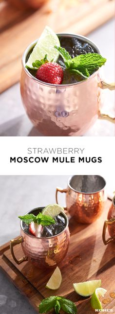 Just when we thought there was nothing as refreshing as a Moscow mule...meet the strawberry Moscow mule. This cocktail is a balanced mix of sweet and sour (and vodka, of course) but we just call it the perfect summer drink. And it couldn't be easier! Muddle a handful of strawberries at the bottom of a copper Moscow mule mug. Pour two ounces of vodka, ½ ounce of lime juice and five ounces of ginger beer over strawberries and ice. Garnish with a lime wedge and strawberry. Celebrate summer with…