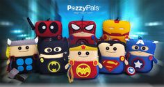 Hero Guys PP mini, Made-to-Order, Handmade Plush w/pouch perfect for hanging on Backpacks, bags,Tooth fairy Pillow