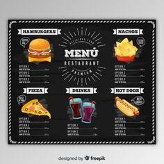 Plantilla de menú de pizzería dibujado a mano   Descargar Vectores gratis