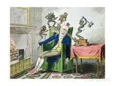 The Head Ache, Satirical Cartoon Giclee Print by George Cruikshank at AllPosters.com