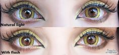 I.Fairy Moonlight yellow circle lenses are astonishingly vibrant & solid. The effect against dark brown eyes is super seducing and vivacious.  Buy here: http://www.uniqso.com/ifairy-moonlite-yellow?search=eclipse