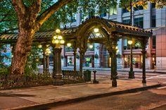 Seattle Pergola 2; photograph by Bob Cerelli. Pioneer Square, Seattle