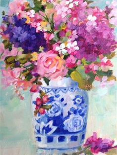 """Daily+Paintworks+-+""""Something+Blue""""+-+Original+Fine+Art+for+Sale+-+©+Libby+Anderson"""