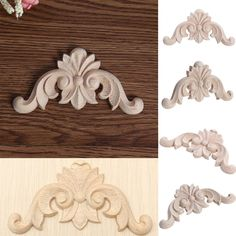 Home & Garden Modest Wholesale Rubber Wood Carved Onlay Applique Unpainted Furniture For Vintage Home Decor Door Cabinet Decoration Color