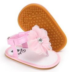 Raise Young PVC Summer Baby Girl Sandals Rubber Soles Non-slip Flower Toddler Girl Shoes Newborn Infant Footwear 0-18M